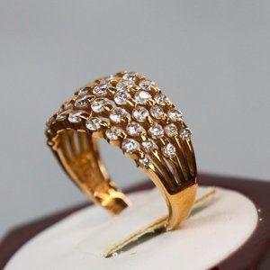 NWOT Diamonique 14K Rose Gold-Clad Ring